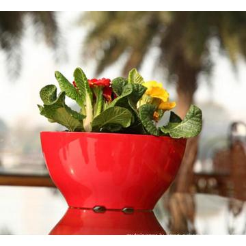 (BC-F1040) Fashionable Design Plastic Self-Watering Flower Pot