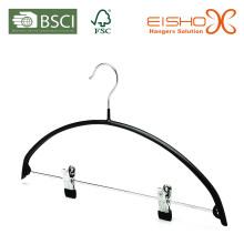 Metal de alta qualidade ternos cabides PVC revestido com clipes (TS213)