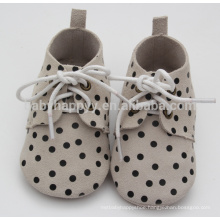 Hot selling polks dot oxford shoes baby genuine leather shoes