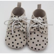 Hot selling polks dot oxford shoes baby sapatos de couro genuínos