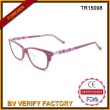Buena mira moda adulto Tr90 óptica gafas en Color Rosa