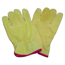 Beige Pig Split Driver Glove Safety Work Glove