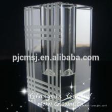 Vase Carré en Verre Cristal Clair K9 Vase
