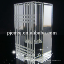 Vaso de vidro cristalino quadrado claro K9 vaso