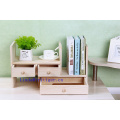 Office Wooden Desktop Organizer With 3 Drawers and Multiple Shelves/Racks for Desk Accessories