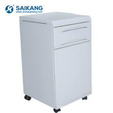 SKS007 Cabinet médical de chevet de chambre à coucher avec des roues