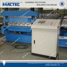 Le rouleau de double couche de tuile en acier émaillé par couleur la plus populaire formant la machine