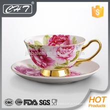 Hot venda de louça de porcelana de boa qualidade conjunto chávenas de chá de osso para a América