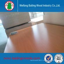 Bonne qualité Utilisation de MDF face à la mélamine pour les meubles