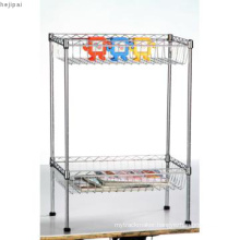 Adjustable Mini Chrome Metal Deepened Wire Basket Rack (CJ502590B2C)