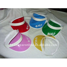 PVC viseira chapéus com logotipo impresso design