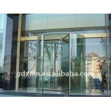 Luxo automática porta giratória de cristal
