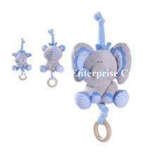 Fábrica de suministro nuevo diseño de bebé relleno de juguete de peluche de movimiento musical