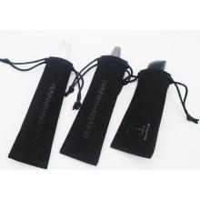 bolsa de presente de camurça com cordão