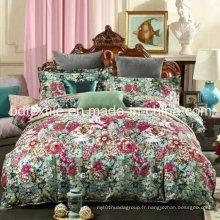 Stocklots de tissu de lit avec haute densité et couleur vive