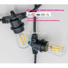 Сл-55 Водонепроницаемый 15м 15 розеток освещения строки товарного сорта Сид e26 Лампа E27 праздник светодиодные строки свет