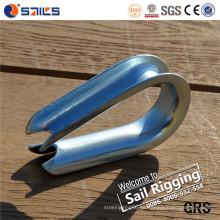 Dedal de acero galvanizado de la cuerda de alambre DIN6899A del acero de carbono