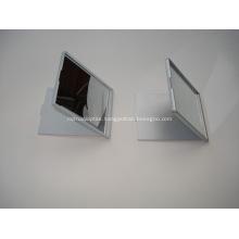 Folding Square Shape Plastic Pocket Mirror - Single