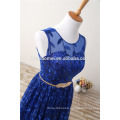 Wholesale Embroidered Floor-length Royal Blue Traditional Women Mixi Plus Size Evening Dress