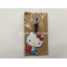 Custom Shape Mjuk PVC Bagage Tag Travel