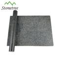 Placa de desbastamento retangular do granito da cozinha preta polida