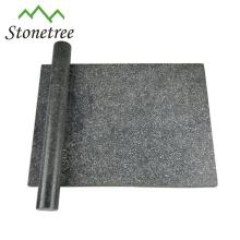 Preço de fábrica conjunto de placa de queijo de mármore preto