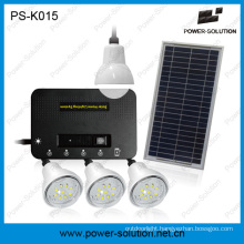 8W Portable Solar Panel System with 4 Bulbs for off-Grid Areas