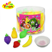 Fruits Shape Sour and Sweet Fruity Powder Candy