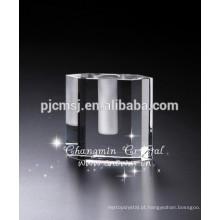 Vaso decorativo home do cristal de cristal da venda superior para a peça central do casamento / hotéis