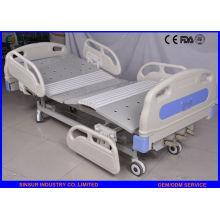 China Supply Luxury ABS Guardrail Manual Lits d'hôpital réglables à 3 fonctions