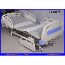 China Supply Luxury ABS Guardrail Manual 3-Function Adjustable Hospital Beds