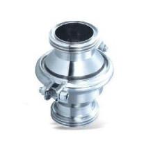 Válvula de retenção roscada macho sanitária de aço inoxidável