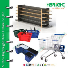 Double Side Gondola Supermarket Shelf , Supermarket Equipment , Display Shelf