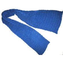 Fine Wool Pleated V Scarf