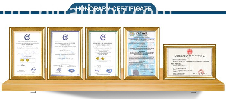 Geosynthetic Clay Lining certificate