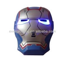 Оптовая и розничная новое прибытие 144pcs/кор синий золото LED Железный Человек маска для Рождество и Хэллоуин и Партии