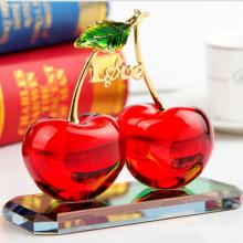 Cadeau de fruits en verre coloré en cristal pour la décoration d'artisanat
