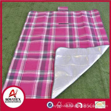 100% Acrylic easy-carrying waterproof picnic blanket