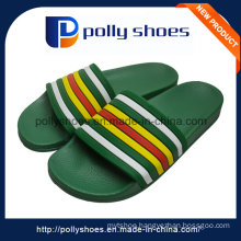 Branded Logo PU Upper Man EVA Custom Slipper for 2016