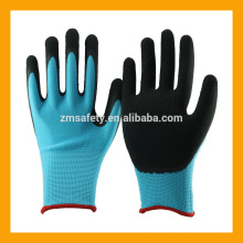 13Gauge Polyester Foam Latex Dipped Gloves Work Safety Latex Coated Hand Gloves