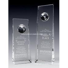 Trophée du trophée Crystal Globe Tower (NU-CW803)