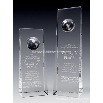 Crystal Globe Tower Award Trophy (NU-CW803)