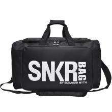 Custom High Quality Waterproof Tote Travel Sports Bag Black Weekend Overnight Duffel Bags Unisex with Logo Print