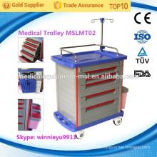 MSLMT02 Krankenhaus medizinische Trolley Notfall Trolley Klinik medizinischen Notfallwagen