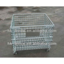 High Grade Warehouse Folding Steel Storage Cage