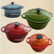 5qt Enamel Cast Iron Casserole with Bakelite