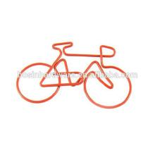 Boucle de papier en forme de vélo en métal haute qualité