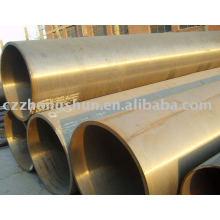 Tuyau en acier allié / Tube en alliage d'échange de chaleur laminé à chaud sans soudure T12