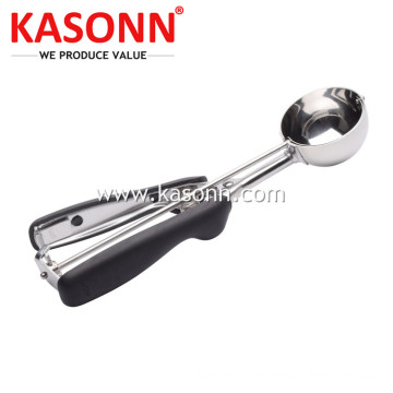 Stainless Steel Ice Cream Scoop with Good Grips