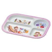 Vaisselle / assiette de vaisselle de vaisselle de mélamine d'enfant divisée (pH824